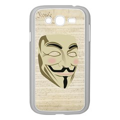 We The Anonymous People Samsung Galaxy Grand Duos I9082 Case (white) by StuffOrSomething