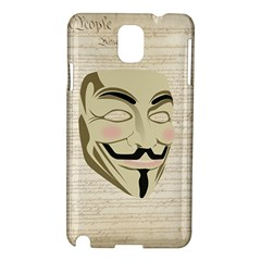 We The Anonymous People Samsung Galaxy Note 3 N9005 Hardshell Case by StuffOrSomething