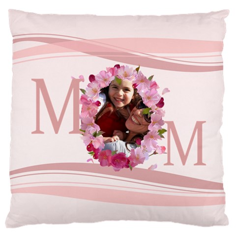 Mothers Day By Mom   Large Cushion Case (one Side)   W5b215p13x0u   Www Artscow Com Front