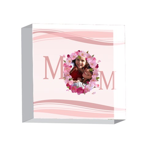 Mothers Day By Mom   4 x 4  Acrylic Photo Block   Md9mdsri9drs   Www Artscow Com Front