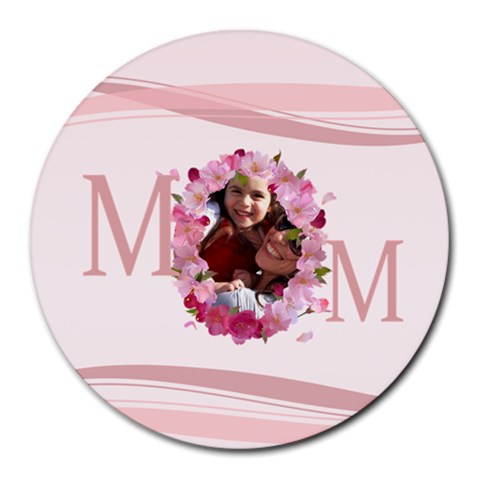 Mothers Day By Mom   Round Mousepad   N4bz2iwshtw7   Www Artscow Com Front