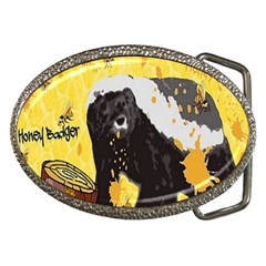 Honeybadgersnack Belt Buckle (oval)