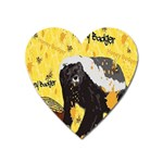 Honeybadgersnack Magnet (Heart) Front