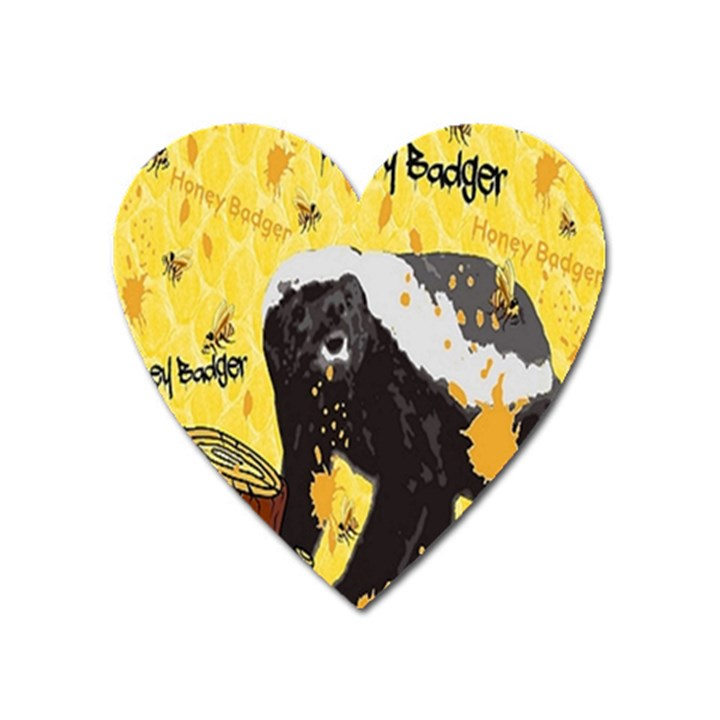 Honeybadgersnack Magnet (Heart)