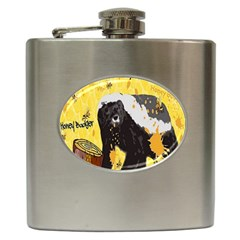 Honeybadgersnack Hip Flask by BlueVelvetDesigns