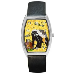 Honeybadgersnack Tonneau Leather Watch