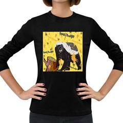 Honeybadgersnack Women s Long Sleeve T Shirt (dark Colored) by BlueVelvetDesigns