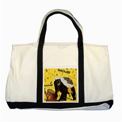 Honeybadgersnack Two Toned Tote Bag by BlueVelvetDesigns