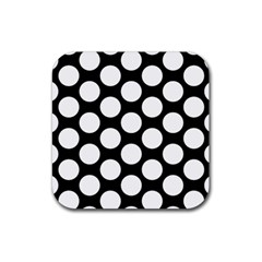 Black And White Polkadot Drink Coasters 4 Pack (Square) by Zandiepants