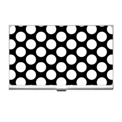 Black And White Polkadot Business Card Holder by Zandiepants