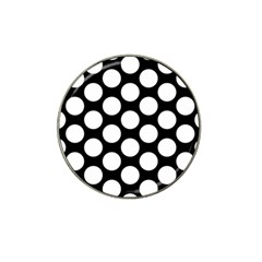 Black And White Polkadot Golf Ball Marker 4 Pack (for Hat Clip) by Zandiepants