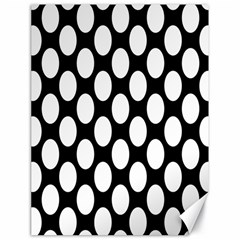Black And White Polkadot Canvas 18  X 24  (unframed) by Zandiepants