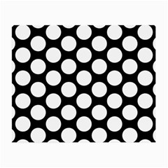 Black And White Polkadot Glasses Cloth (small, Two Sided) by Zandiepants