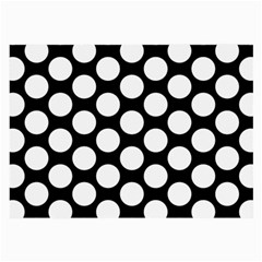 Black And White Polkadot Glasses Cloth (large, Two Sided) by Zandiepants