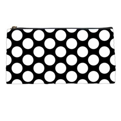 Black And White Polkadot Pencil Case