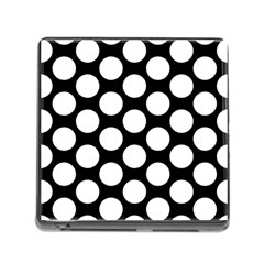 Black And White Polkadot Memory Card Reader With Storage (square) by Zandiepants