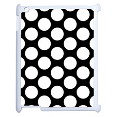 Black And White Polkadot Apple Ipad 2 Case (white) by Zandiepants