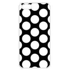 Black And White Polkadot Apple Iphone 5 Seamless Case (white) by Zandiepants