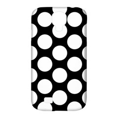 Black And White Polkadot Samsung Galaxy S4 Classic Hardshell Case (PC+Silicone)