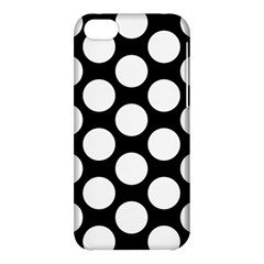 Black And White Polkadot Apple iPhone 5C Hardshell Case by Zandiepants