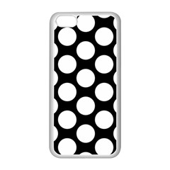 Black And White Polkadot Apple Iphone 5c Seamless Case (white) by Zandiepants