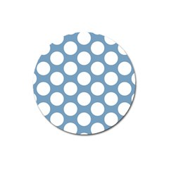 Blue Polkadot Magnet 3  (round) by Zandiepants