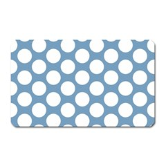 Blue Polkadot Magnet (rectangular) by Zandiepants