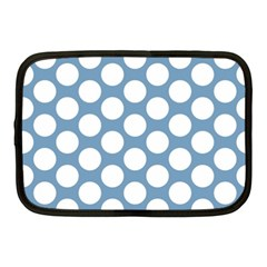 Blue Polkadot Netbook Sleeve (medium) by Zandiepants