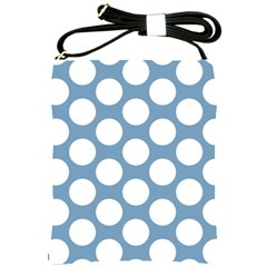 Blue Polkadot Shoulder Sling Bag by Zandiepants