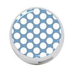 Blue Polkadot 4 Port Usb Hub (one Side) by Zandiepants