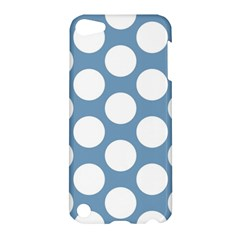 Blue Polkadot Apple Ipod Touch 5 Hardshell Case by Zandiepants