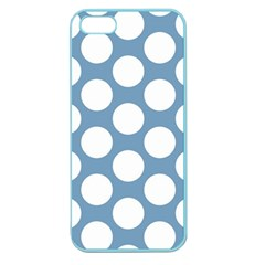 Blue Polkadot Apple Seamless Iphone 5 Case (color) by Zandiepants