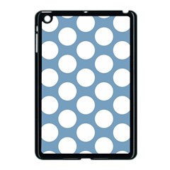 Blue Polkadot Apple Ipad Mini Case (black) by Zandiepants