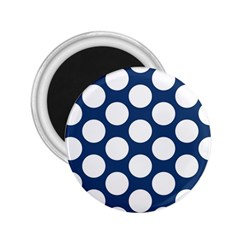 Dark Blue Polkadot 2 25  Button Magnet by Zandiepants