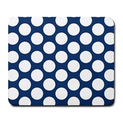Dark Blue Polkadot Large Mouse Pad (rectangle)