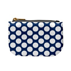 Dark Blue Polkadot Coin Change Purse by Zandiepants