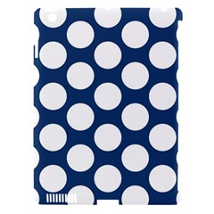 Dark Blue Polkadot Apple Ipad 3/4 Hardshell Case (compatible With Smart Cover) by Zandiepants