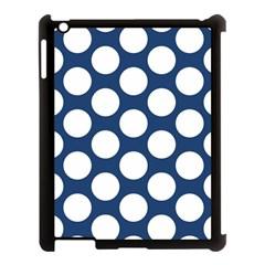 Dark Blue Polkadot Apple Ipad 3/4 Case (black) by Zandiepants