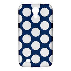 Dark Blue Polkadot Samsung Galaxy Mega 6 3  I9200 Hardshell Case by Zandiepants