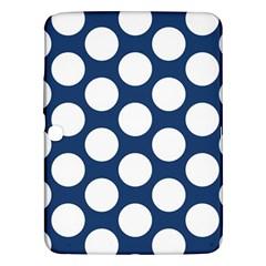 Dark Blue Polkadot Samsung Galaxy Tab 3 (10 1 ) P5200 Hardshell Case  by Zandiepants