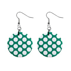 Emerald Green Polkadot Mini Button Earrings by Zandiepants