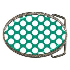Emerald Green Polkadot Belt Buckle (oval) by Zandiepants