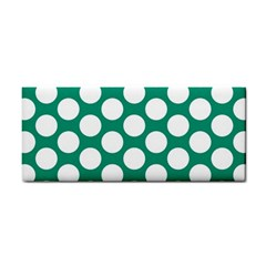 Emerald Green Polkadot Hand Towel by Zandiepants