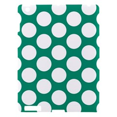 Emerald Green Polkadot Apple Ipad 3/4 Hardshell Case by Zandiepants