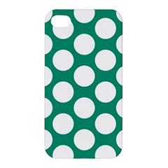 Emerald Green Polkadot Apple Iphone 4/4s Premium Hardshell Case by Zandiepants