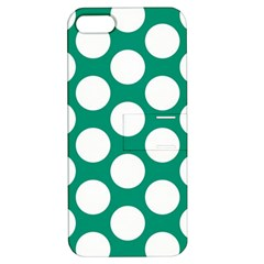 Emerald Green Polkadot Apple Iphone 5 Hardshell Case With Stand by Zandiepants