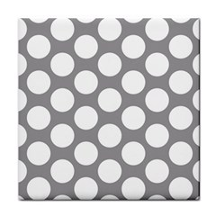 Grey Polkadot Ceramic Tile by Zandiepants