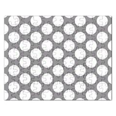 Grey Polkadot Jigsaw Puzzle (rectangle) by Zandiepants