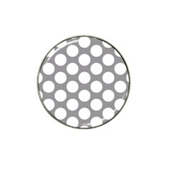 Grey Polkadot Golf Ball Marker (for Hat Clip) by Zandiepants