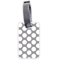 Grey Polkadot Luggage Tag (two Sides) by Zandiepants